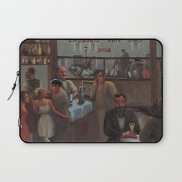 African-American 1929 Classical Masterpiece 'Paris, Cafe' by Archibald Motley Laptop Sleeve