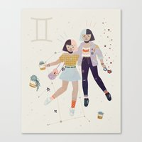 gemini Canvas Prints featuring Gemini by LordofMasks