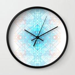 Techno-Lattice: Summer Skies Wall Clock