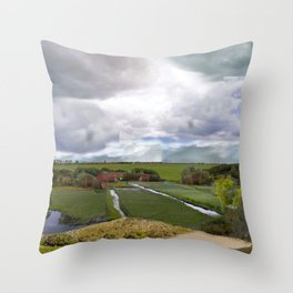 View of Haarlem (350 years later) Throw Pillow