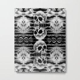 Freak Skull Pattern Metal Print