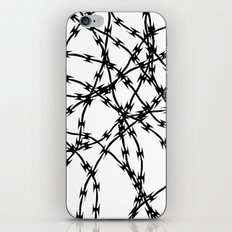 Trapped Black on White iPhone & iPod Skin
