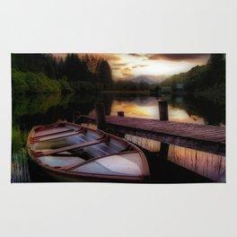 Summer Sunset Over Loch Ard Rug