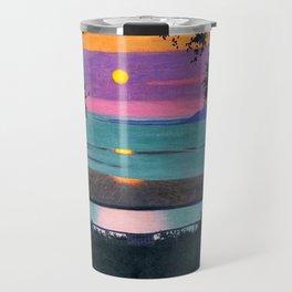 Sunset - Coucher de Soleil by Félix Vallotton - Colorful Les Nabis Art Travel Mug