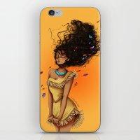 pocahontas iPhone & iPod Skins featuring Pocahontas by C. Cassandra