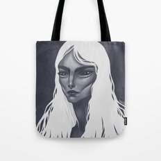 White Haired Tote Bag