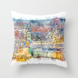 London, Tower Bridge Throw Pillow