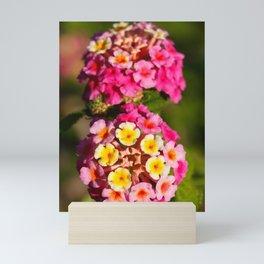 Lantana flowers Mini Art Print