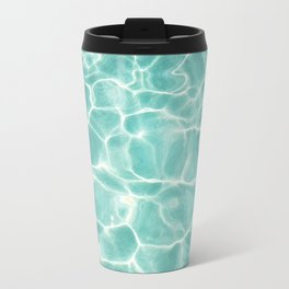 Water Abstract Photography, Teal Ocean, Turquoise Sea, Water Ripple Seascape Travel Mug