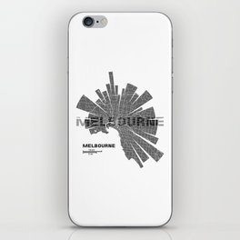 Melbourne Map iPhone Skin
