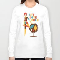 hippie Long Sleeve T-shirts featuring Hippie Chick by Szoki