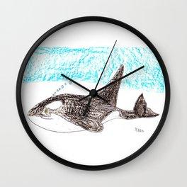 Orca Baby Wall Clock