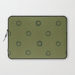 Little circles with nests (green) Laptop Sleeve