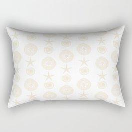 Beachy Seashell Pattern Rectangular Pillow