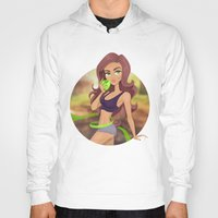 fitness Hoodies featuring Fitness girl by Artgelina