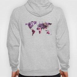 World Map Pink Purple Hoody