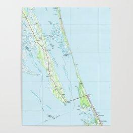 Northern Outer Banks North Carolina Map (1985) Poster