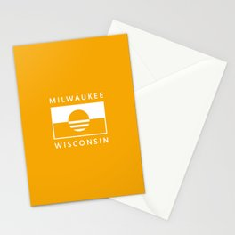Milwaukee Wisconsin - Gold - People's Flag of Milwaukee Stationery Cards