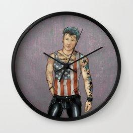 Live Free F*** Hard (AKA Made In America) Wall Clock