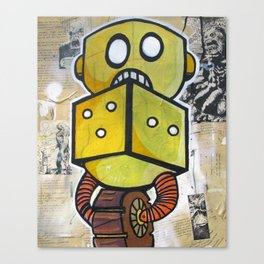 Dice Bot Canvas Print