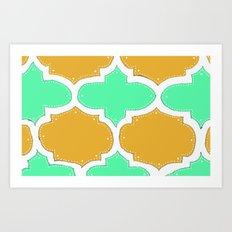 Morocco Orange & Teal Art Print