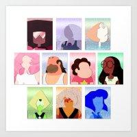 steven universe Art Prints featuring Steven Universe by Moonblossom