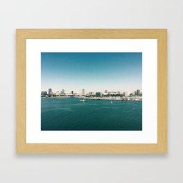 Dowtown Long Beach Framed Art Print