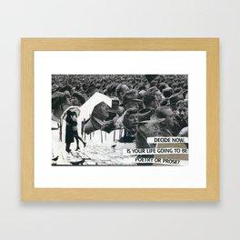 Poetry or Pose Framed Art Print
