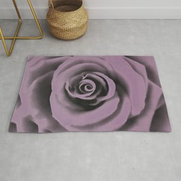 Big Dark Lavender Rose Rug