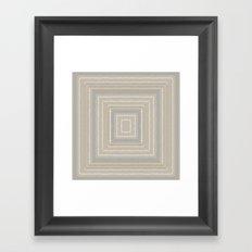 Sandy Beige Concentric Squares Framed Art Print