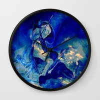 angels Wall Clocks featuring angels by  Agostino Lo Coco