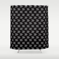 arrows Shower Curtains featuring Arrows by Priscila Peress