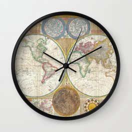 General Map of the World by by Samuel Dunn and Thomas Kitchin (1794) Wall Clock