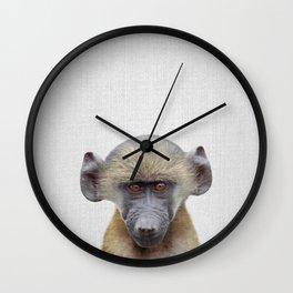 Baby Baboon - Colorful Wall Clock
