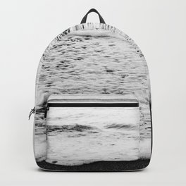 Rushing in - black white Backpack