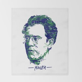 Gustav Mahler Throw Blanket
