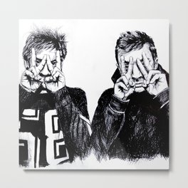Josh and Tyler Metal Print