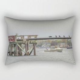 Cormorants on the Greasy Pole Rectangular Pillow