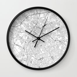 Charlotte White Map Wall Clock