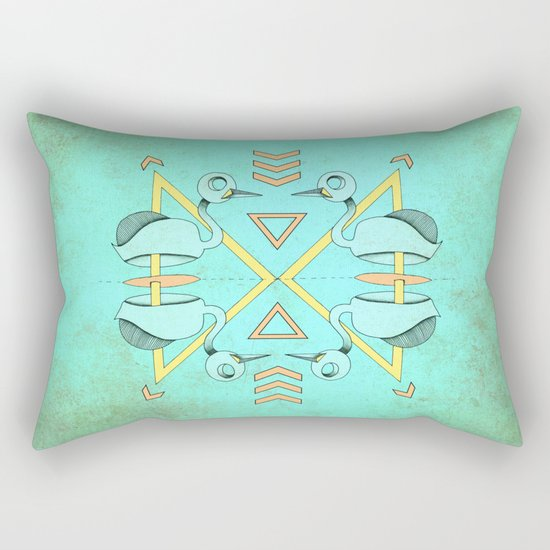 Aztec swan Rectangular Pillow