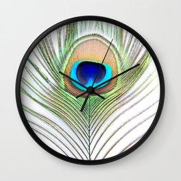 Eye of the Peacock Wall Clock