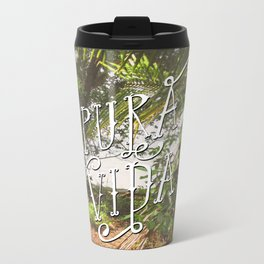 Pura Vida Costa Rica Jungle Life Caribbean Type Metal Travel Mug