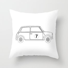 Compact Saloon Outline Drawing Throw Pillow