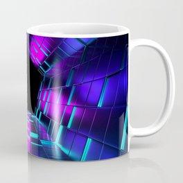 Purple Lights Rendering Tunnel Coffee Mug