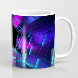 Purple Lights Rendering Tunnel Coffee Mug