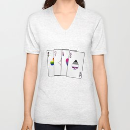 Sexuality Playing Cards Unisex V-Neck
