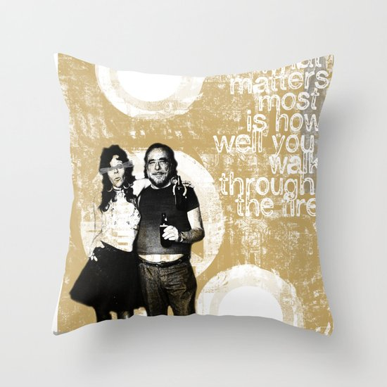 Walking Through Fire... Throw Pillow