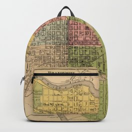 Map of Wilmington 1868 Backpack
