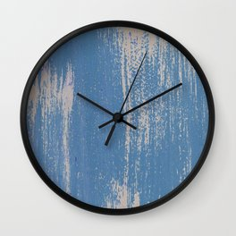 White on Blue Painted Wall Texture Wall Clock