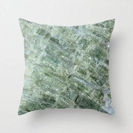 Green Tourmaline Throw Pillow